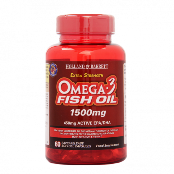 Xs omega 3 fish oil 1500mg 60 capsules h b india for Fish oil for psoriasis