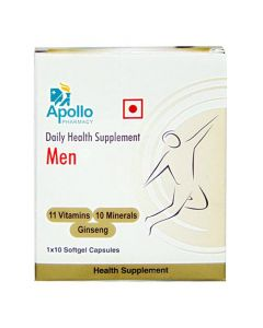 Apollo Pharmacy Daily Health Supplement Softgels For Men 10's