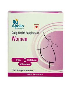 Apollo Pharmacy Daily Health Supplement Softgels For Women 10's