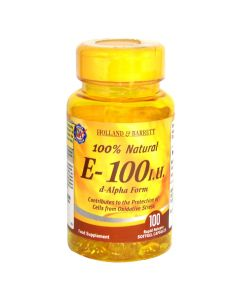 Holland & Barrett 100% Natural Vitamin E- 100 I.U. 100 Capsules