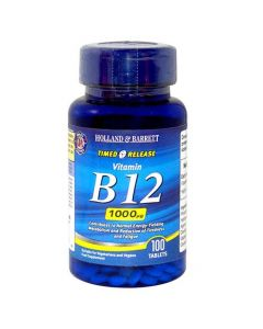 Holland & Barrett Timed Release Vitamin B12 1000ug 100 Tablets
