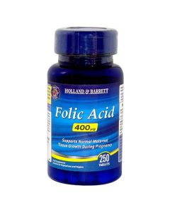 Holland & Barrett Folic Acid, 400ug, 250 Tablets