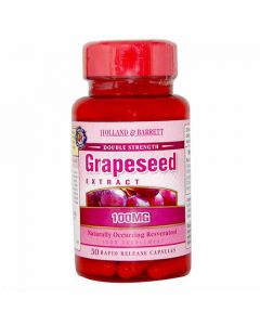 Holland & Barrett Grapeseed Exract 100mg 50 Capsules