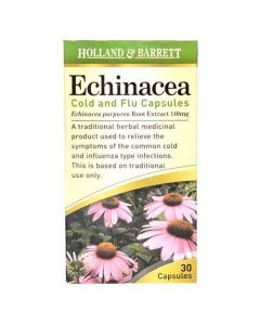 Holland & Barrett Echinacea Cold & Flu 140mg 30 Capsules