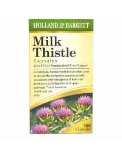 Holland & Barrett Milk Thistle 100 Capsules