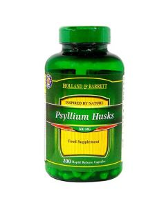 Holland & Barrett Psyllium Husks 500mg 200 Capsules