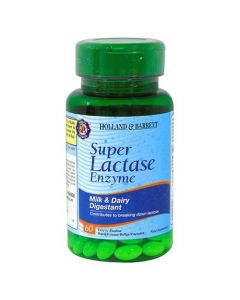 Holland & Barrett Super Lactase Enzyme 125mg 60 Capsules