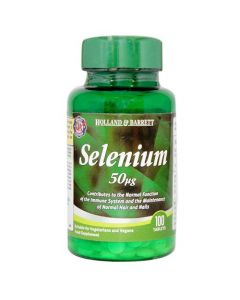 Holland & Barrett Selenium 50ug 100 Tablets