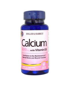 Holland & Barrett Calcium, Vitamin D, 60 Tablets