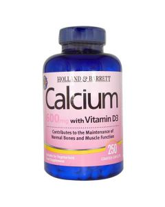 Holland & Barrett Calcium 600mg With Vitamin D3 250 Caplets
