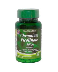Holland & Barrett Chromium Picolinate 200ug 100 Tablets