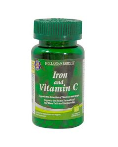 Holland & Barrett Iron And Vitamin C 100 Tablets