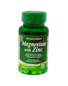 Holland & Barrett Magnesium With Zinc 100 Tablets