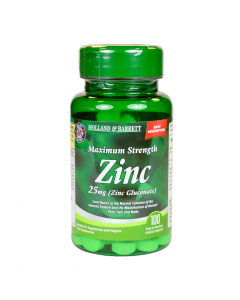 Holland & Barrett Maximum Strength Zinc 25mg (Zinc Gluconate) 100 Tablets