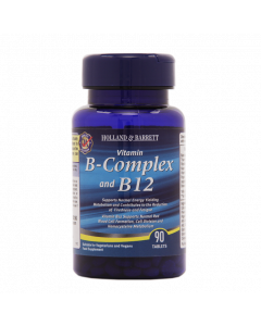 Holland & Barrett B Complex & B12 90 Tablets