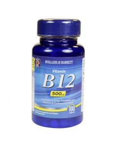 Holland & Barrett Vitamin B12, 500ug, 100 Tablets