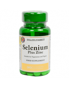 Holland & Barrett Selenium Plus Zinc 90 Tablets