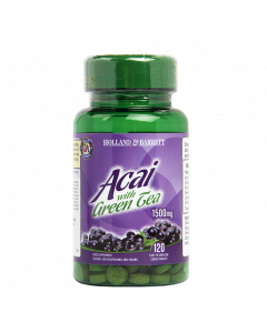Holland & Barrett Acai 1500mg With Green Tea 120 Tablets