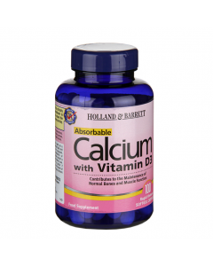 Holland & Barrett Absorbable Calcium 1000mg with Vitamin D3 100 Capsules