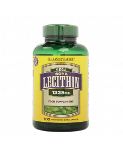 Holland & Barrett Mega Soya Lecithin 1325mg 100 Capsules