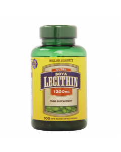 Holland & Barrett Ultra Soya Lecithin, 1200mg, 100 Capsules