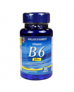 Holland & Barrett Vitamin B6 50mg 100 Tablets