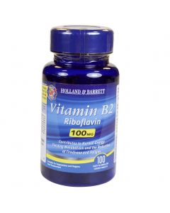 Holland & Barrett Vitamin B2 Riboflavin 100mg 100 Tablets