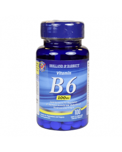 Holland & Barrett Vitamin B6, 100mg, 100 Tablets