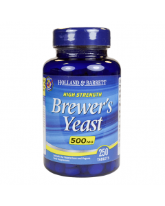 Holland & Barrett High Strength Brewer's Yeast 500mg 250 Tablets