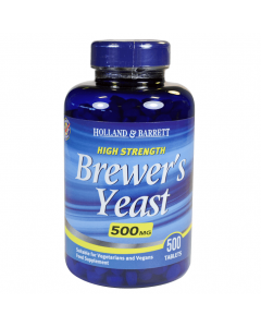 Holland & Barrett High Strength Brewer's Yeast 500mg 500 Tablets