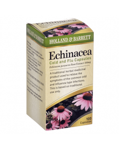 Holland & Barrett Echinacea Cold & Flu 140mg 100 Capsules