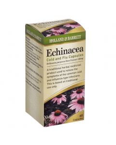 Holland & Barrett Echinacea Cold & Flu 140 mg 60 Capsules