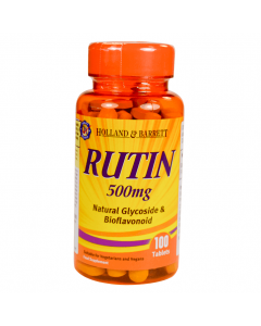 Holland & Barrett Rutin 500mg 100 Tablets