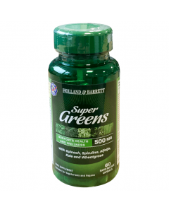Holland & Barrett Super Greens, 500mg, 60 Capsules