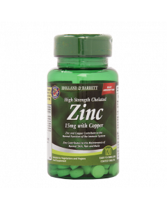 Holland & Barrett High Strength Zinc, Copper, 15mg, 120 Tablets