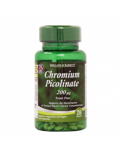 Holland & Barrett Chromium Picolinate 200ug 250 Tablets