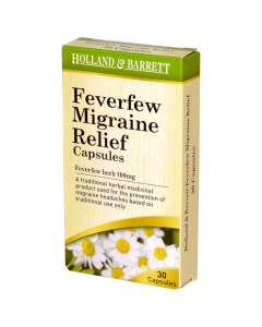 Holland & Barrett Feverfew Migraine Relief 30 Capsules