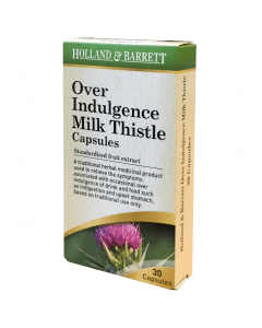 Holland & Barrett Over Indulgence Milk Thistle 30 Capsules