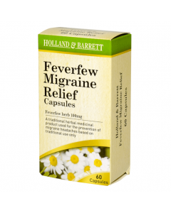 Holland & Barrett Feverfew Migraine Relief 60 Capsules