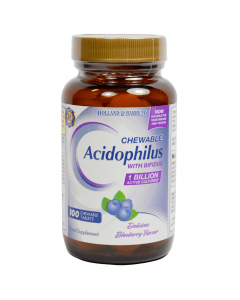 Holland & Barrett Chewable Acidophilus with Bifidus Blueberry 100 Tablets