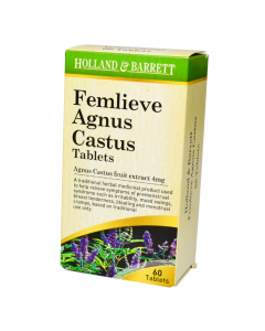 Holland & Barrett Femlieve Agnus Castus Fruit Extract 4mg 60 Tablets