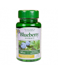 Nature's Garden Blueberry Extract 60mg 100 Capsules