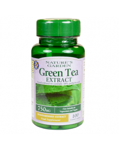 Nature's Garden Green Tea Extract 750mg 100 Caplets
