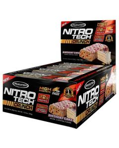 Muscletech Nitrotech Birthday Cake Bars 780g
