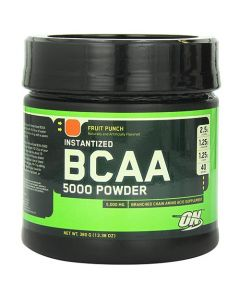Optimum Nutrition Instantized BCAA 5000 mg Powder Fruit Punch 380g
