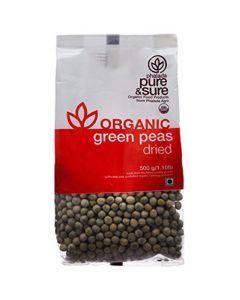 Pure & Sure Organic Green Peas Dried 500g